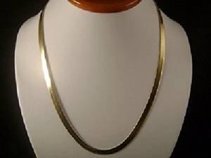 329eeddcefc37 14k Gold Filled Flat Herringbone 20