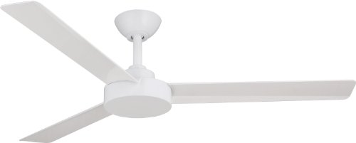 white ceiling fan no light - 4