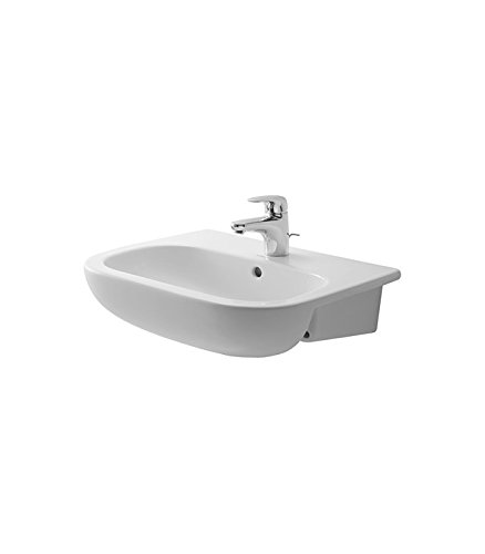 Duravit 339550030 D-Code Semi-Recessed Furniture Basin 21 5/8, 3 Hole Tapping, ()