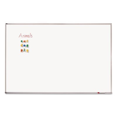 Porcelain Magnetic Whiteboard, 72 x 48, Aluminum Frame, Sold as 1 Each