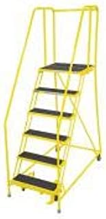 product image for Cotterman 1006R2630A2E20B4C2P6 - Rolling Ladder Steel 90In. H. Yellow
