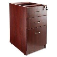 Lorell LLR69603 69000 Series Free Standing Fixed Pedestals, Mahogany