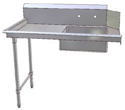 John Boos JDTS-20-48L Stainless Steel Straight Pro-Bowl Soiled Dishtable, 8