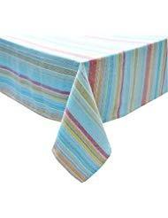 Food Network Festive Stripe Zippered Umbrella Tablecloth Woven Fabric (70 Round Umbrella) (Round 48 Umbrella)