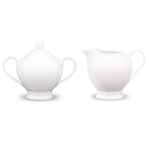 Eileen's Reserve New Bone China Mellow White Sugar and Creamer Set