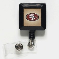 Square Retractable Badge Holder - WinCraft NFL San Francisco 49ers 14141021 Retractable Badge Holder