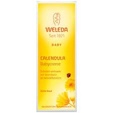 WELEDA Calendula Baby Cream - Protects Sensitive Baby Skin Against Soreness - The Ideal Care for The Diaper Area - Cares Gently & soothes Skin - Promotes Skin Regeneration - 75 ml