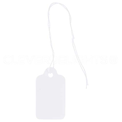(1000 Pack - CleverDelights Mini Price Tags - 3/4