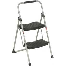 Werner 2 Step Steel Folding Step Ladder 225 lb. Cap by Werner