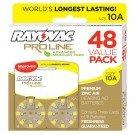 Rayovac Proline Advanced Mercury-Free Hearing Aid Batteries44; Box - 4844; Size 10 by Rayovac