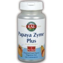 Kal 200 Mg Papaya Zyme Plus, Tropical Fruit, 100 Count