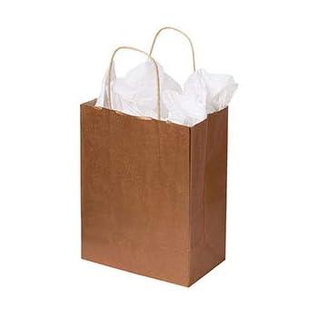 "Paper Shopping Bags 25 Lime Green Medium Merchandise 8 ¼"" x 4 ¾"" x 10 ½ Gift"