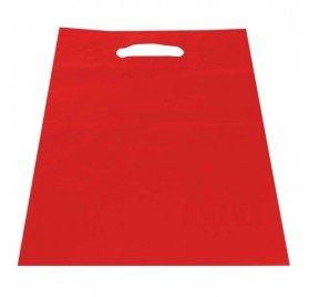 Dalbags - Lote de 50 bolsas de plástico liso, color rojo ...