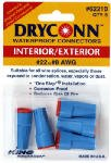 King Innovation 62210 10 Pack DryConn Outdoor Electrical Wire Connector 5/Card, Aqua/Red