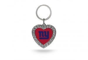 Bling Bling Heart (New York Giants Bling Rhinestone Heart Keychain)