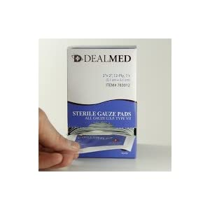 Dealmed Sterile Gauze Pads, Individually Wrapped Absorbent 100/Box