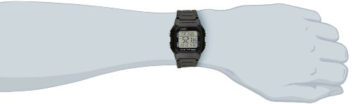 Casio Mens W800H-1AV Classic Sport Watch with Black Band