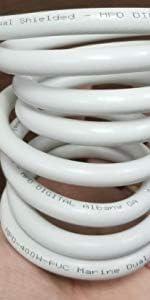 Coiled with NO Connectors MPD Digital MPD-400 PVC Black Super Flex MPD400 Dual Shielded ULL 50 ohm UltraFlex RF Coax Cable