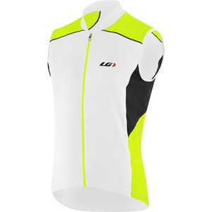 (Louis Garneau Men's Mistral Vent Sleeveless Cycling Jersey, White/Bright Yellow, X-Small)