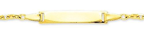 www.diamants-perles.com - Bracelet enfant - Identité bébé - Gourmette - Or - Maille Forçat