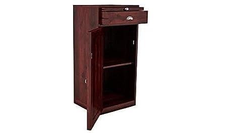 B.L Wood Furniture Sheesham Wood Stylish Mini Bar Cabinet for Living Room | Mahogany Finsh