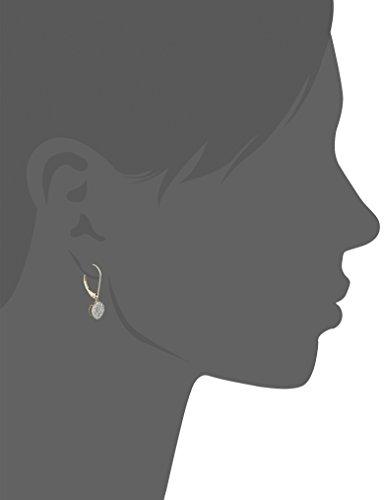 nbsp;k En nbsp;carat Boucles 2 10 D'oreilles Au Total Jaune Or 1 Rond Forme Diamant pTxdSwq