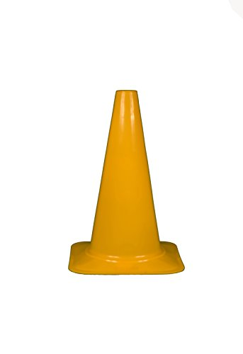 Cortina 03-500-38 Polyethylene Sport Cone, 18'' Height, Yellow by Cortina