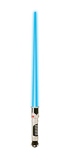 Emperor Palpatine Costume Mask - Star Wars Obi-Wan Kenobi Light Up Blue Lightsaber