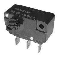 D2MC-5E-Microswitch, Miniature, Side Rotary, SPDT, Quick Connect, 5 A