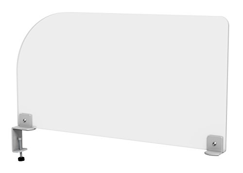 Acrylic Clamp on Privacy Desk Divider Size: 12'' H x 23'' W by VaRoom (Image #1)