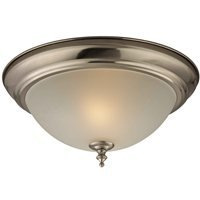 Boston Harbor Nickel Lighting - Boston Harbor F51WH02-1005-BN 6815757 Dimmable Ceiling Light Fixture, (2) 60/13 W Medium A19/Cfl Lamp, Brushed Nickel