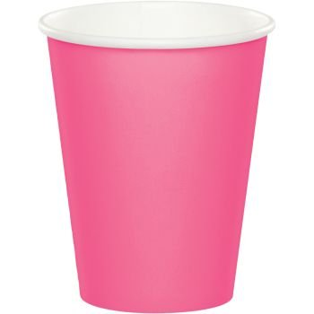Creative Converting Touch of Color Paper Hot/Cold Party Cup, Candy Pink (24 Cups)