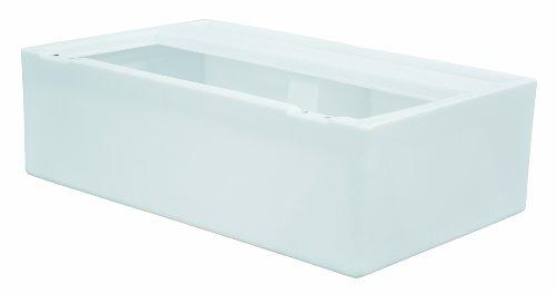 Wise 36-Inch Pontoon Bench Seat Base, White