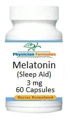 4 bouteilles de mélatonine Supplément 3 mg, 60 capsules - Approuvé par le Dr Ray sahélienne, MD - Naturel Pill somnifère w / Lucid Dreaming Effets secondaires