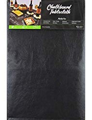 Black Chalkboard Vinyl Tablecloth with Flannel Backing -Perfect for Customizing Your Parties - Housewarming, Birthdays, Engagements, Anniversaries, Weddings and More! (60 inch X 84 inch Oblong) ()