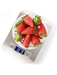 Food Scale Digital Kitchen Scale Digital Food Kitchen Scale Food Scales Digital weight grams and oz Cooking Scale Tare Function 5kg 0.05oz 1g Multifunction Stainless Steel 4 units Silvery