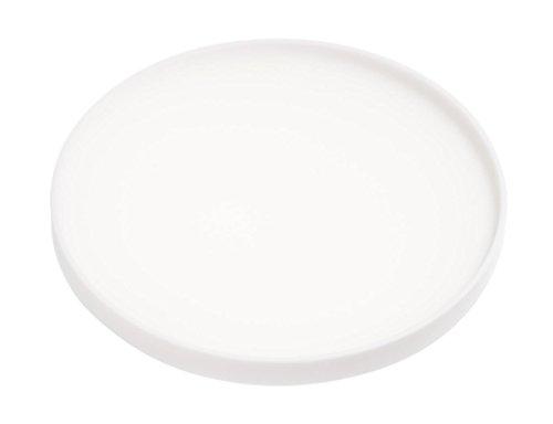 YAMAZAKI home Tower Silicone Coaster Round White (White Coasters)