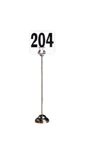 Stainless Steel Harp Number Stand - American Metalcraft HPCH12 Harp-Style Weighted Number Stand, 12-Inches