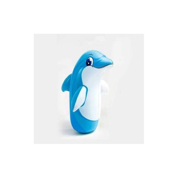 TOTTA HIT ME PVC Hit Me 3D BOP Bags Inflatable Bouncer (Multicolor) Boxing Dolphin Design