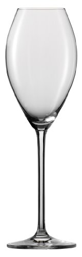 Schott Zwiesel Tritan Crystal Glass Stemware Champagne Flute with Effervescence Points 11-1/2-Ounce, Set of 6
