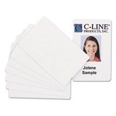 - PVC ID Badge Card, 3 3/8 x 2 1/8, White, 100/Pack