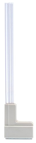 "Master Magnetics MSHL03X6 Magnetic Sign Holder for 12"" Sign, 90 Degree Magnetic Base with Acrylic Strip, 2.28"" L, 0.79"" W, 14.8"" Overall, Clear, White (Pack of 6)"