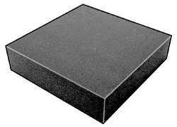 Foam Sheet, 200100 Poly, Charcoal, 3x24x72