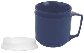 Kinsman Enterprises 16042 Weighted Cup with No Spill Lid, 8 oz, Blue