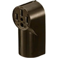 Bryant Electric RR350 Range & Dryer Surface Mount Receptacle, 50 Amp, 125/250V, Nema 10-50R, 2-Pole, 3-Wire, Black