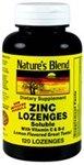Nature's Blend Zinc Lozenges Lemon 120 Ct