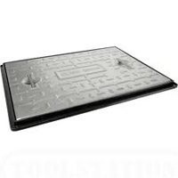 Clark-Drain-600x600mm-25T-Galvanised-Steel-Manhole-Cover-Single-Seal-with-Frame-PC7AG-by-Clark-Drain