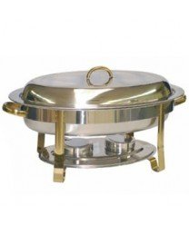 TigerChef TC-20232 Oval Chafer, 6 quarts, 0836GH (Oval Chafer)