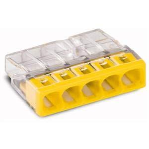 30 pezzi Wago 2273-204 Scatola di giunzione COMPACT morsettiera /Ø 0,5-2,5 mm/² a 4 poli trasparente//rosso