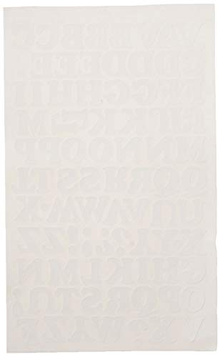 - SEI 9-171 -3/4-Inch Chunky Letter Iron on Transfer, White, 1 Sheet